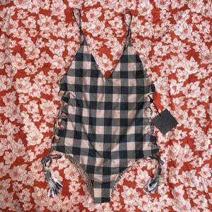 Acacia swimwear Florence check print